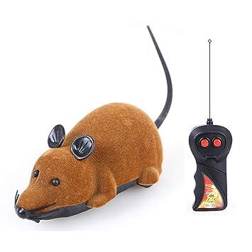 Qwhome Eléctricos Juguetes para Gatos Gato Remoto Control De Animales Juguetes para Mascotas Ratón Teledirigido,Brown: Amazon.es: Deportes y aire libre