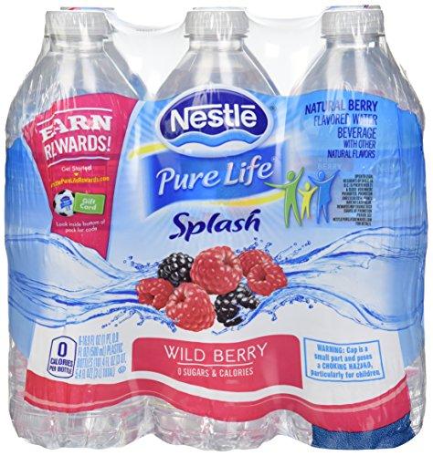 Nestle(R) Splash Water Beverages, Wild Berry, 16.9 Oz, Case Of 24 Bottles
