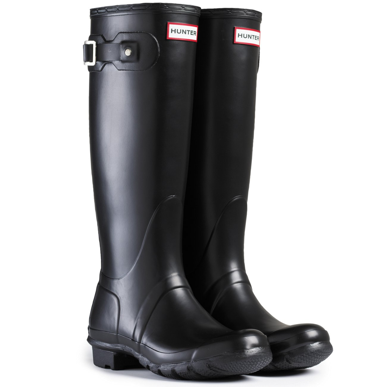 Womens Hunter Original Neoprene Winter Snow Festival Rain Wellington Boot - Black - 8