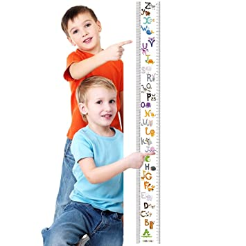 Amazon Letter Growth Chart Handing Wall Decor For Kids Rule