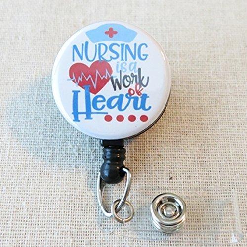 amazon com nursing is a work of heart nurse badge reel nurse