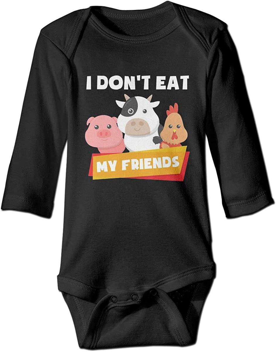 Marsherun Baby Boys and Girls I Dont Eat My Friends Long-Sleeve Bodysuits Playsuits