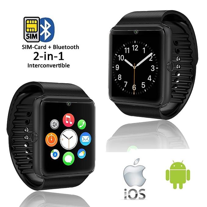 Indigi Moda Bluetooth 3.0 Smartwatch teléfono Manos Libres ...