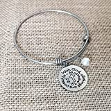 Silver Infinity Cross Necklace Bracelet Religious