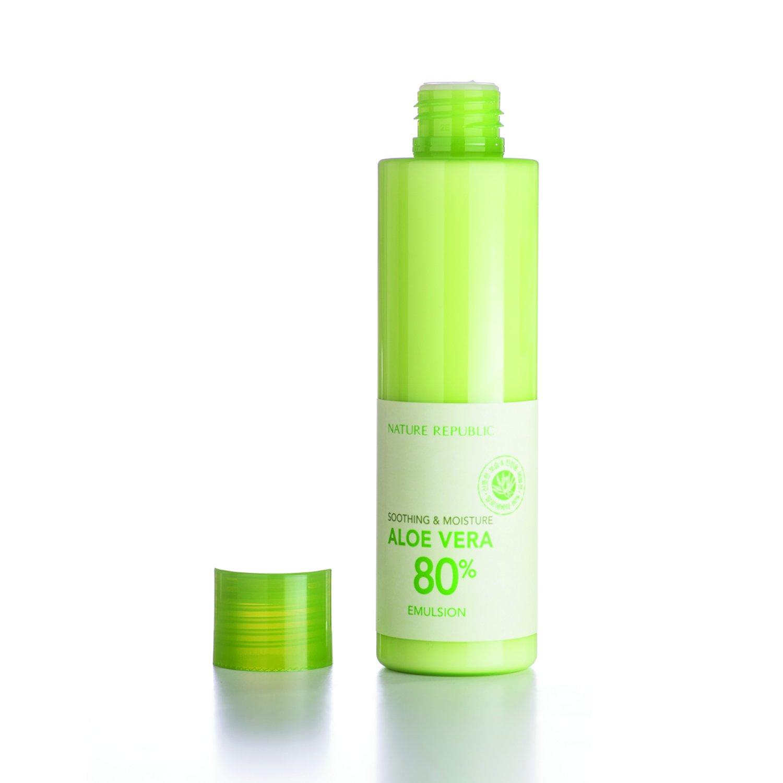 Nature Republic Soothing Moisture Aloe Vera 80 Emulsion 160 Gram Nr Shoothing Gel Republik 300ml Beauty