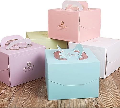 Chilly caja de cajas de pasteles, panadería, juego de 10 cajas de decorativo pastel contenedores, dulces, galletas, cajas de regalos, parte inferior Pallet incluido (rosa y verde): Amazon.es: Hogar