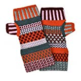 Solmate Socks, Mismatched Fingerless Mittens Gloves Made in the USA, Persimmon
