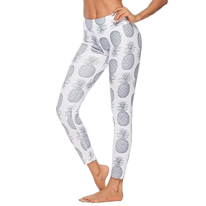 3d0b452a8cbb3 Yogogo Ananas Athletisch Damen Yoga Leggings Hose Hohe Taille Pants ...