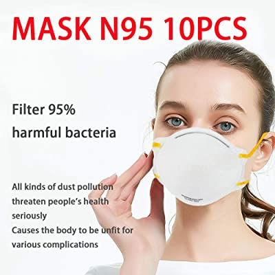1Pcs Disposable 4-Layer N95 Breathing Masks, Disposable Air Filter Masks Against Dust, Pollution, Particle, Pollen, Smoke, Safety Face Mask. Certified by NIOSH & FDA.