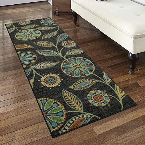 (Maples Rugs Runner Rug - Reggie Artwork Collection 2 x 6 Non Skid Hallway Carpet Entry Rugs Runners [Made in USA] for Kitchen and Entryway, 2' x)