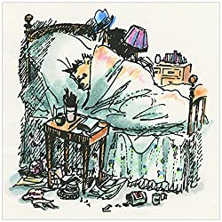 Marmont Hill Paddington Bear Paddington Gets The Flu Canvas Wall Art, 32 By 32-inch