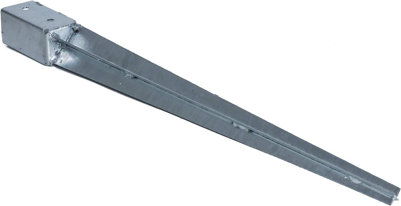 KOTARBAU/® Einschlagbodenh/ülse 81 x 81 mm L/änge 750 mm Pfostentr/äger Feuerverzinkt Einschlagh/ülse f/ür Vierkantholzpfosten Bodenh/ülse Anker Stahl Bodenanker
