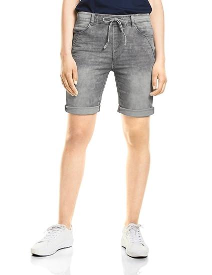 Street One Women s 371403 Bonny Bermuda Shorts, Grey (Grey Random Bleach  11393), defca8aa9d