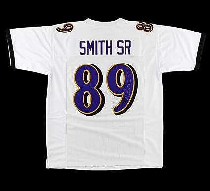 Amazon.com: Steve Smith Sr Autographed/Signed Baltimore Custom ...