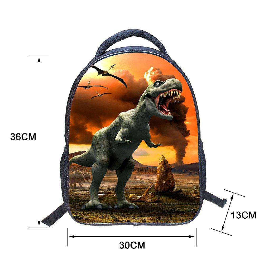 Amazon.com   Baby Toddler Kids Child 3D Animals Cool Dinosaur Print Canvas  Backpack Schoolbag Shoulder Bag Children Book Bag for Kindergarten (Type1)  ... 09ebe6d639