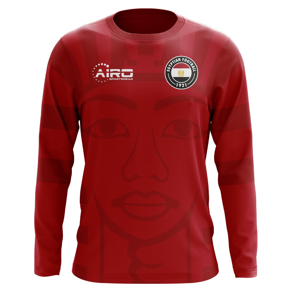 Airo Sportswear 2018-2019 Egypt Long Sleeve Home Concept Football Soccer T-Shirt Trikot