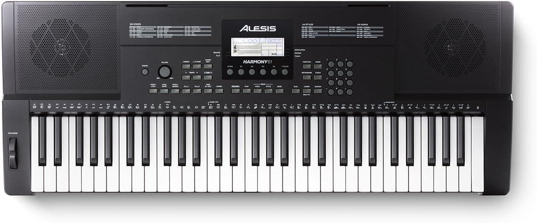 Alesis Harmony 61 - Teclado electrónico portátil de 61 teclas con altavoces incorporados