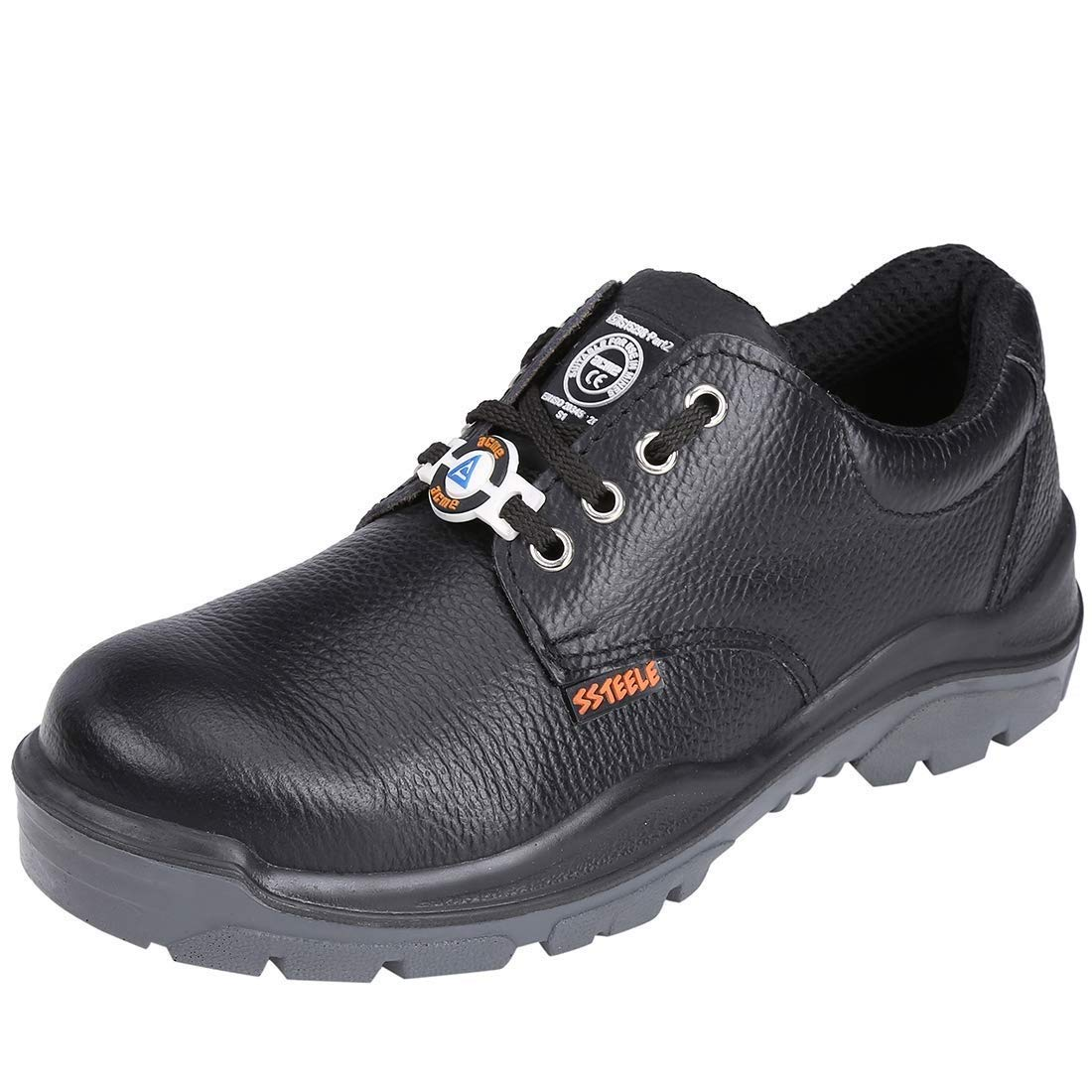 ACME Storm Leather Safety Shoes Black
