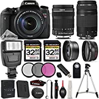 Canon EOS Rebel T6s DSLR Camera + 18-135mm Lens + Canon 75-300 III - 64GB KIT - All Original Accessories Included - International Version