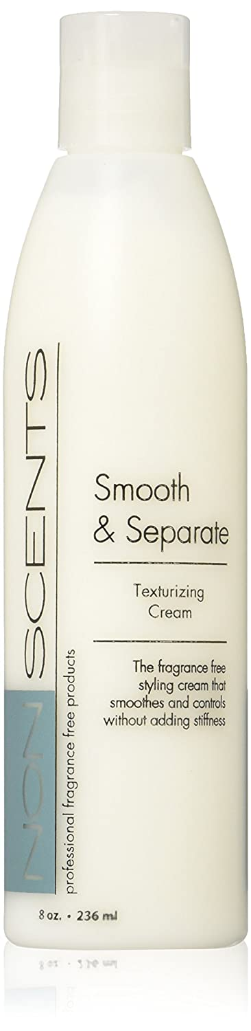 Nonscents-Smooth & Separate- Fragrance Free Texturizing Cream, Unscented. Great For Taming & Defining Curls! Thermal Protector. Get Amazing Blow-Drys & Styles With Shine!