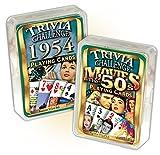 Flickback Media, Inc. 1954 Trivia Playing Cards & 1950's Movie Trivia Combo: 65th Birthday or Anniversary