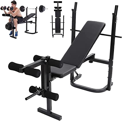 Weight Lifting Bench Olympic Workout Squat Rack Barbell,Adjustable Decline Bench