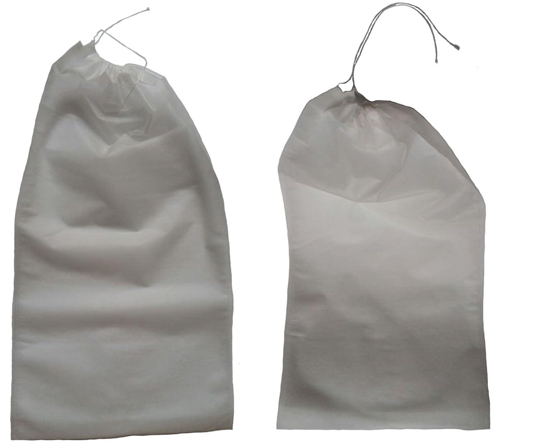 aldoradoセット: 6個& 2個不織布靴オーガナイザートラベルパック保護ホワイト   B01N231H9C