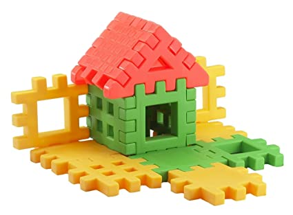 Awe Inspiring Gunnu Toys Kids Plastic Happy Home Jr Building Block Toy Age 2 To 5 Multi Color Download Free Architecture Designs Rallybritishbridgeorg