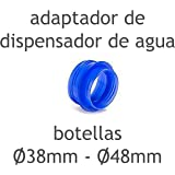 MovilCom® - Adaptador de tapón diámetro 38mm - 48mm para dispensador Agua para garrafas Compatible
