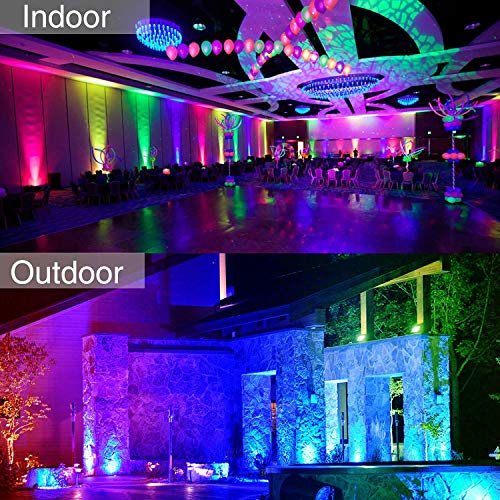 Onforu 4 Pack 20W RGB LED Flood Lights with Remote Control, IP66 Waterproof Dimmable Color Changing Floodlight, 16 Colors 4 Modes Wall Washer Light, Outdoor Decorative Garden Stage Landscape Lighting by Onforu (Image #4)