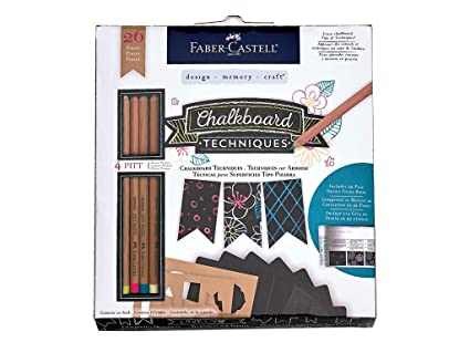 Amazon.com: Faber Castell FaberCastell Chalkboard Techniques Kit