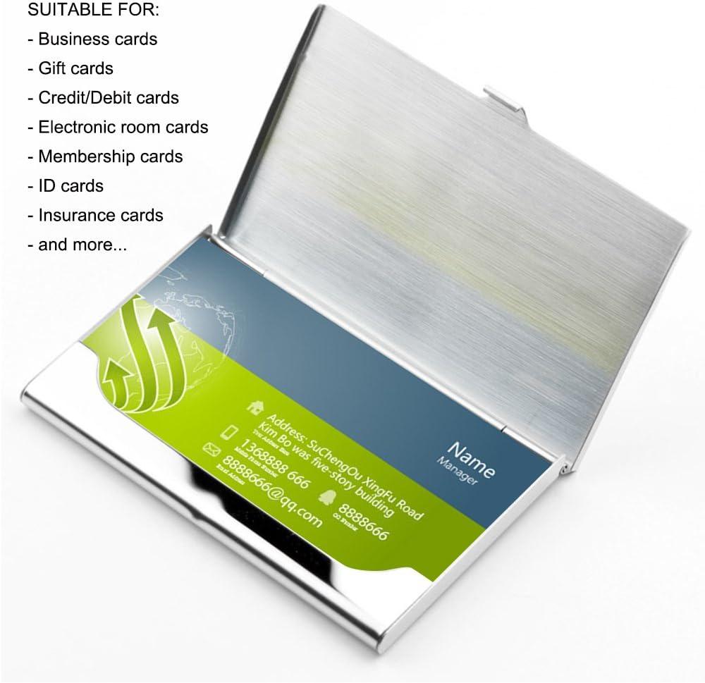 hiscow Umschlag Business Card Case mit Magnet verschluss/ /italienischem Kalbsleder One Size Black.