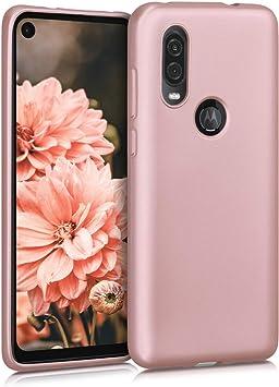Carcasa m/óvil de Silicona Flexible Protector Trasero en Oro Rosa Metalizado kwmobile Funda para Apple iPhone 11