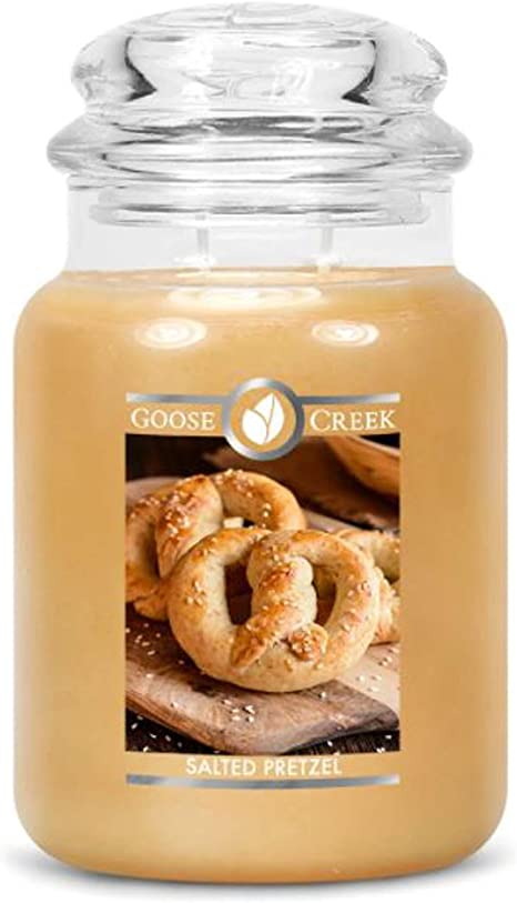Goose Creek Salted Pretzel Large Jar Candle 24 Oz 2 Wick Scented Candle Scented Premium Paraffin Grade Candle Wax 100 Lead Free Highly Scented Long Lasting Choose Your Scents Salted Pretzel