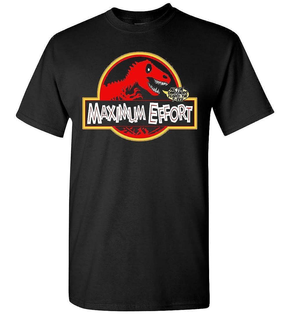 BEWSEL Maximum Effort Jurassic Dinosaur T Shirt