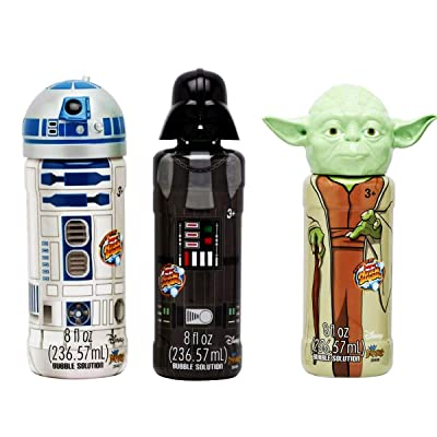 Disney StarWars Bubble Set- Darth Vader, Yoda, R2D2 8 FL OZ w Wand: Toys & Games