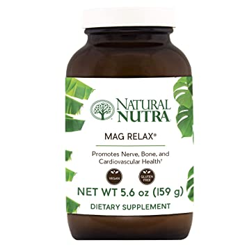 Natural Nutra Mag Relax® Magnesium Powder (Carbonate to Citrate with Water), Calm