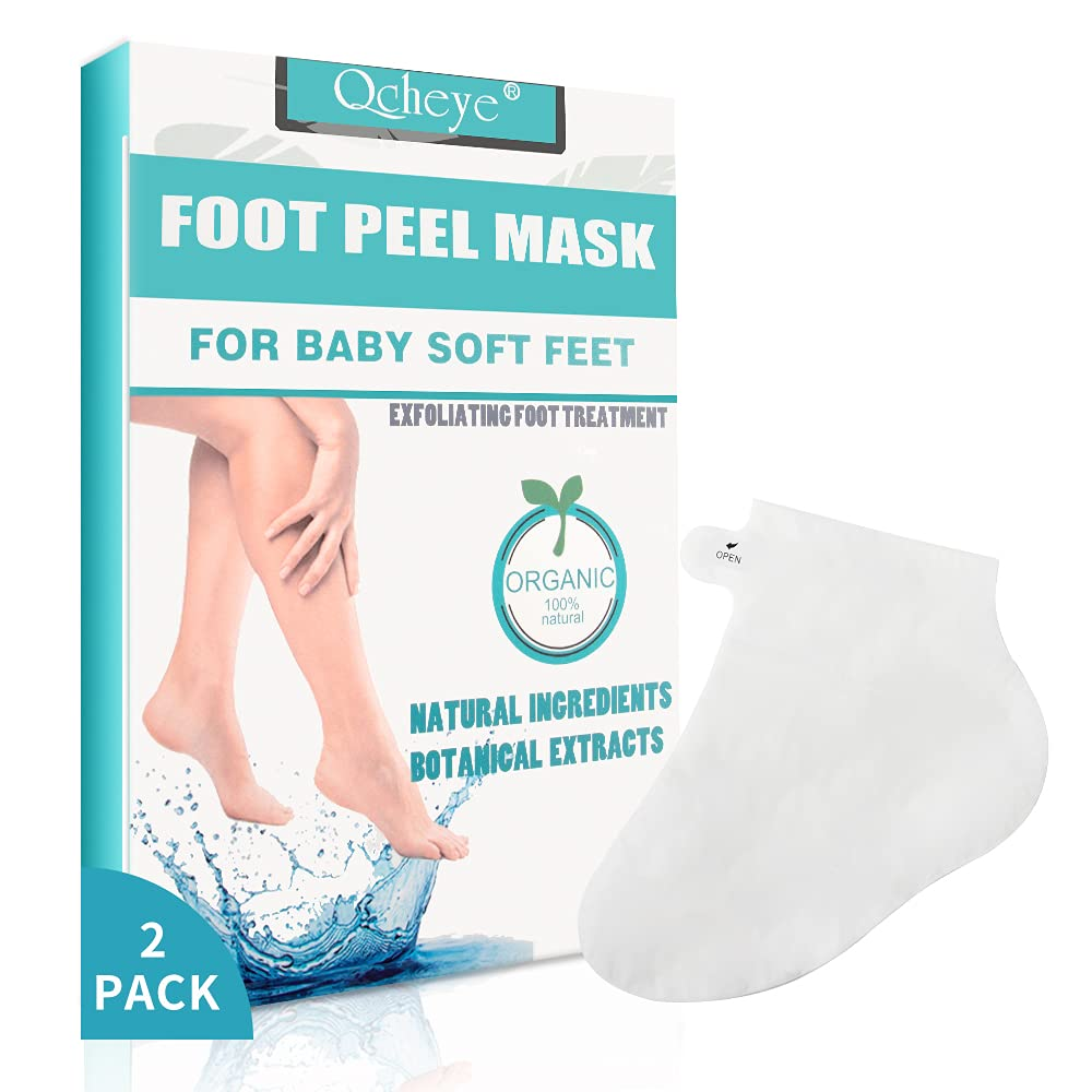 Foot Peel Mask Feet Peeling Mask Exfoliating for Cracked Heels Dead Skin and Calluses,Get a Smooth Skin Baby Feet,Natural Removes and Repairs Rough Heels,Dry Toes Skin,Foot Care for Women/Men - 2 Pack
