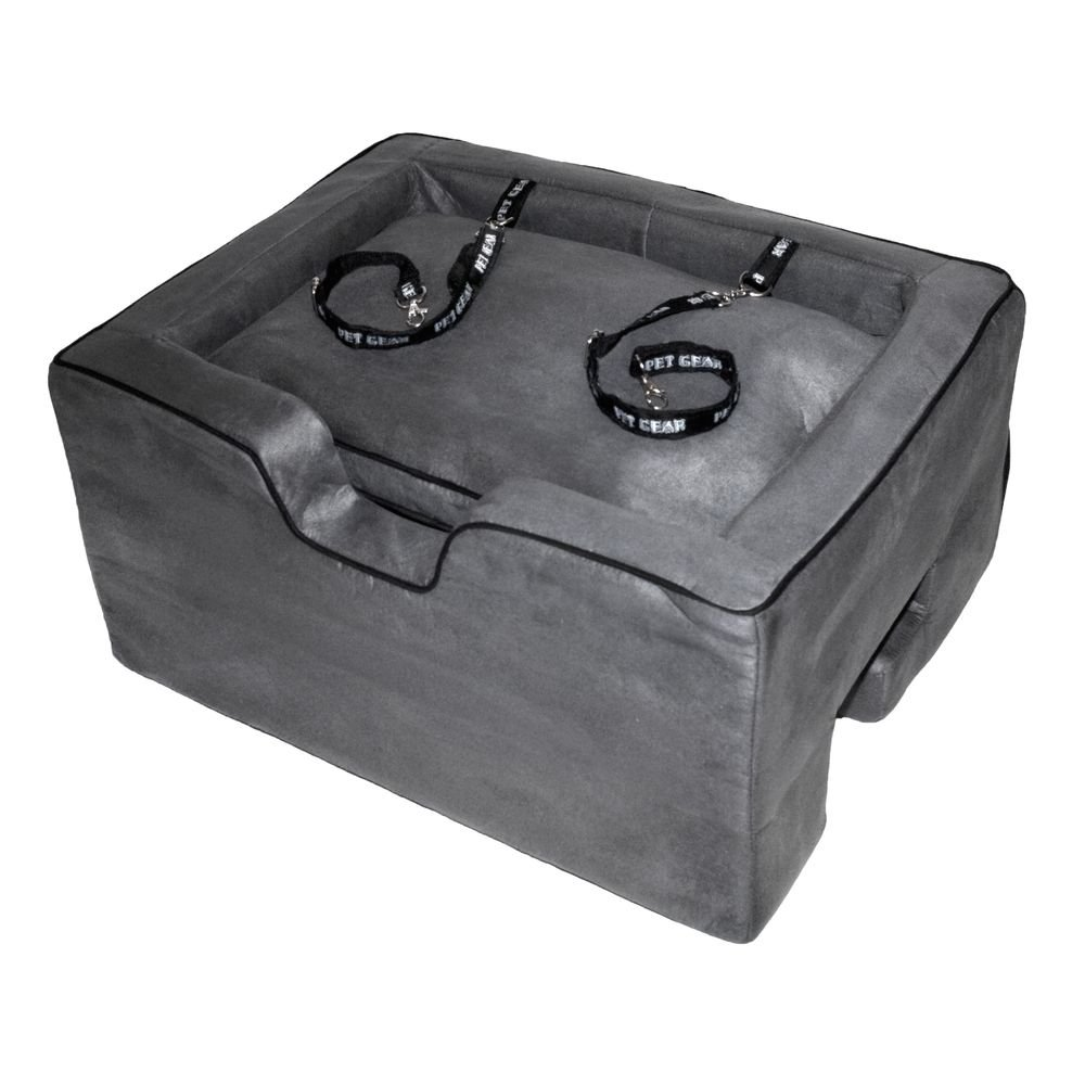 Pet Gear Lookout Booster Car Seat, Removable Comfort Pillow, Safety Tether Included, Installs in Seconds, No Tools Required, 2 Sizes, 3 Colors by Pet Gear