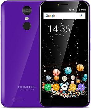 OUKITEL C8 - 5,5 pulgadas (18: 9 relación visión completa) Android 7.0 3G smartphone, 3000mAh batería, 1,3 GHz Quad Core 2 GB de RAM de 16 GB de ROM, cámara de 5MP + 13MP, huella digital: Amazon.es: Electrónica