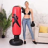 CHAW - Saco de boxeo independiente, 160 cm, ejercicio para aliviar el estrés, saco de boxeo con bomba de pie