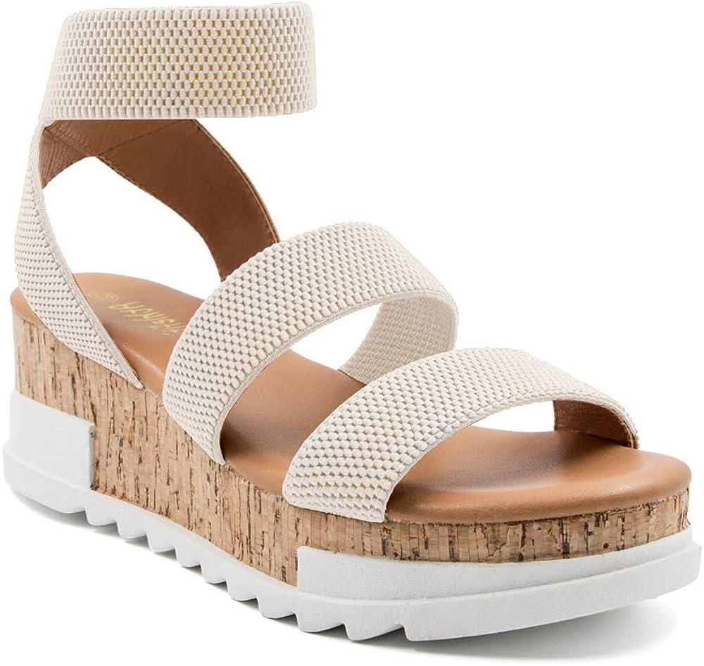 Athlefit Women's Wedge Sandals Platform