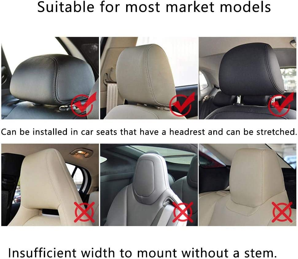 Dubleir Car Seat Headrest Pillow Car Travel Headrest U-shaped car seat pillow Comfortable Support on Both Sides memory foam travel pillow for Travel Sleep Neck Support