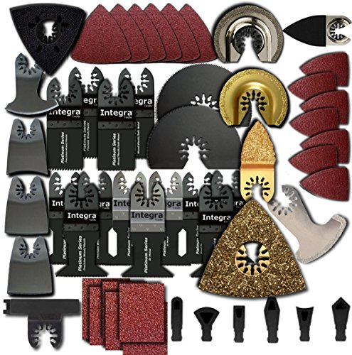 139pc Mixed Saw Scraper Grout Sand Pack Oscillating Multitool Blades Fits Fein Multimaster Makita Genesis Bosch Dremel Craftsman Bolt-on Nextec Ridgid Ryobi Makita Milwaukee Dewalt Rockwell Hyperlock Chicago Stainley Skil King Canada Multi Tools