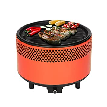 kbabe® Barbacoa de carbón con ventilación activo, naranja