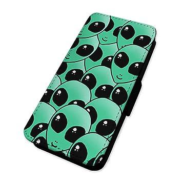 Funny Alien Jefes - Funda con tapa tipo cartera funda ...