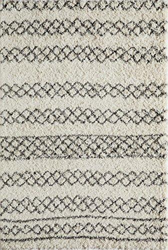 Momeni Rugs MAYA0MAY-3IVY2030 Maya Collection, Ultra Thick Pile Shag Area Rug, 2' (Momeni Comfort Shag Collection)
