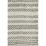 "Momeni Rugs MAYA0MAY-3IVY7A9A Maya Collection, Ultra Thick Pile Shag Area Rug, 7'10"" x 9'10"", Ivory"
