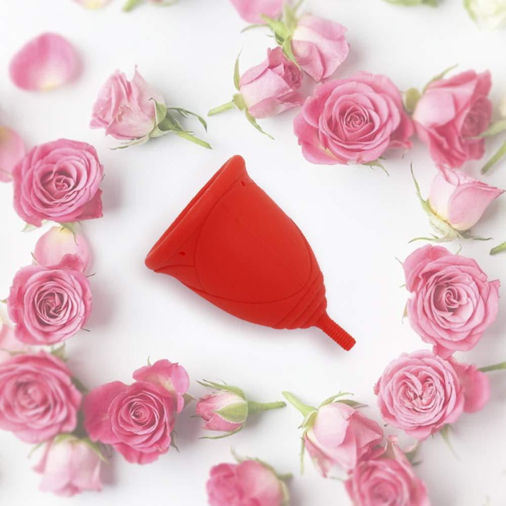 Copa Menstrual Sileu Cup Rose - Modelo de iniciación para principiantes y adolescentes, sencillo de colocar - Ayuda a prevenir infecciones urinarias y la ...