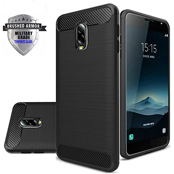 more photos 9cece cf198 Asus Zenfone V Live Case, Shockproof Rugged Anti-Drop Carbon Fiber Rubber  Soft Silicone Full-body Protective Cover for Asus V Live V500KL 5.0 Inch ...